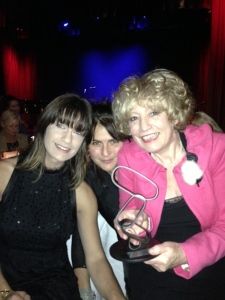 Chris McNulty with Georgina Dawson & Monique Di Mattina after receiving the Bell Award for Best Australian Jazz Vocal Album